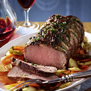 Roast Beef with Herb Crust.