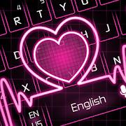 Neon Pink Love Heart Keyboard