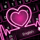 Neon Pink Love Heart Keyboard 10001003 APK ダウンロード