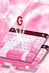 Klávesnice Pink Color Theme - náhled