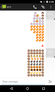 Emoji Keyboard - Food Art screenshot 1
