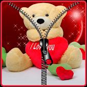 Teddy bear love screen lock