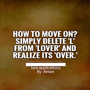 how to move on from your lover