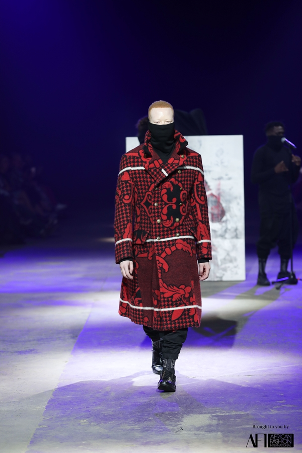 A design inspired by BaSotho blankets from fashion house Unknown Union.