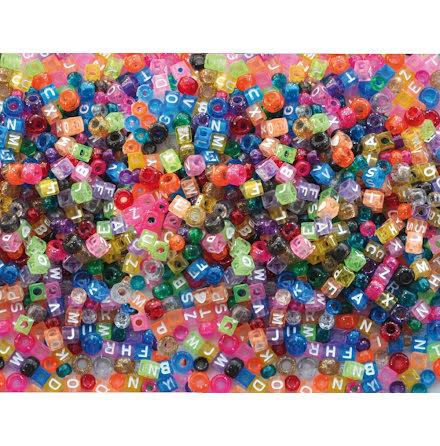 Plastpärlor Kongo & ABC, 1000st