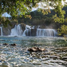 Slapovi Krke by Dado Barić - Landscapes Waterscapes ( water, waterscape, waterfall, forest, slapovi krke, river )
