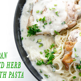 One Pan Garlic and Herb Chicken with Pasta