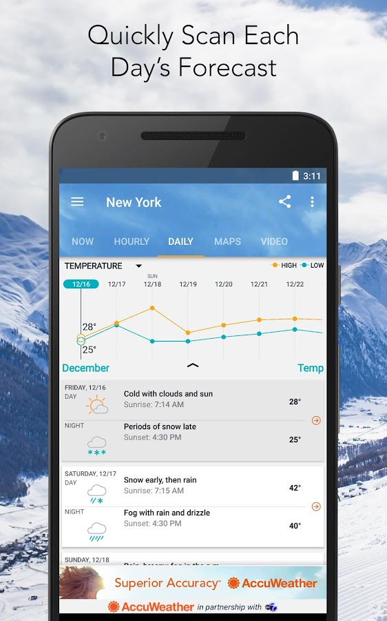 AccuWeather- screenshot