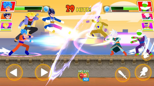 Code Triche Dragon Z Attack - Kung Fu PVP Action Platformer  APK MOD (Astuce) screenshots 2
