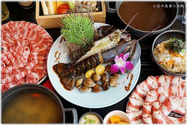 台中火鍋推薦║崇德路必吃美食,肉魂鑄鐵雙人大滿足套餐, 整隻龍蝦上桌、無毒鮮蝦吃爽爽,肉肉控的天堂美食