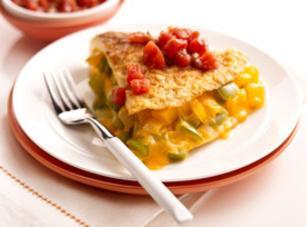 Cheese & Pepper Omelet Recipe