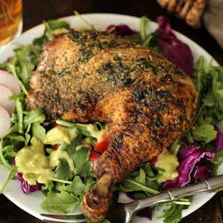 Pesto-Rice Stuffing with Roast Turkey.