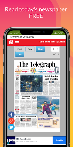 All Daily English Newspaper India in a app Epaper 16.0 screenshots 16