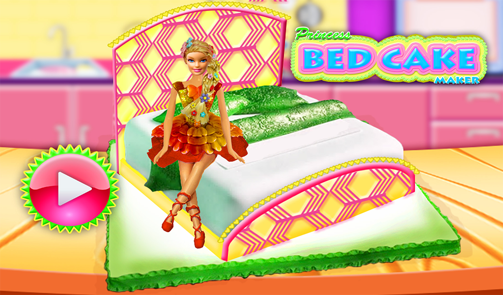 Princess Bed Cake Maker Game! Doll cakes Cooking- screenshot
