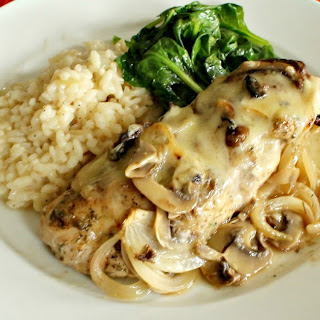 Chicken and Mushrooms with Gruyere