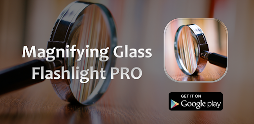 Image result for magnifying glass flashlight pro apk