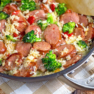 Smoked Sausage & Cheesy Rice