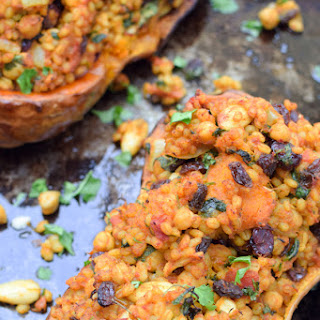 Moroccan-Style Stuffed Butternut with Barley [vegan]