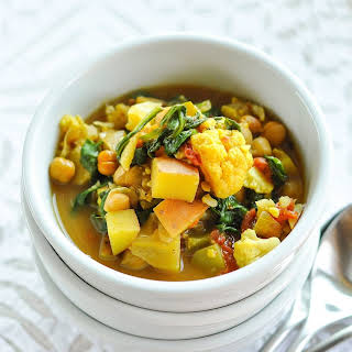 Curried Vegetable and Chickpea Stew.