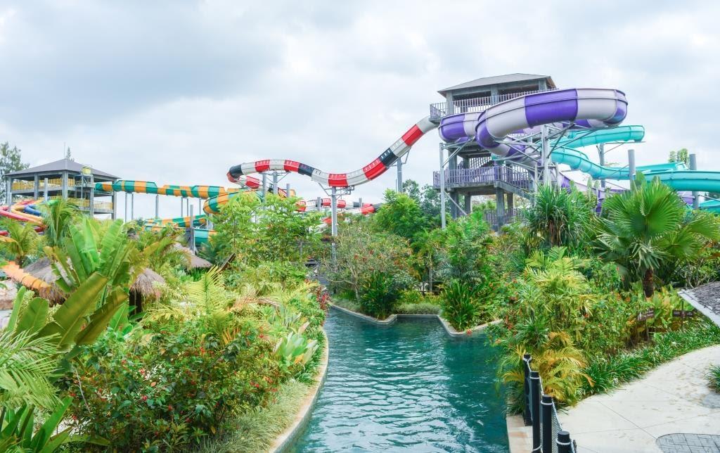 Suasana Jogja Bay waterpark masih sepi seperti tempat bermain milik sendiri