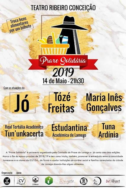 """""""Praxe Solidária"""" – Teatro Ribeiro Conceição – 14 de maio"""