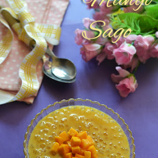Mango Sago Recipe - Ingredients.