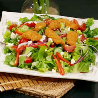 Summer Salad with Fish Nuggets