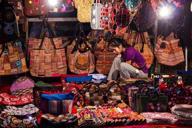 Luang Prabang ethnic market