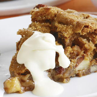 Warm Apple Cake with Pecans.