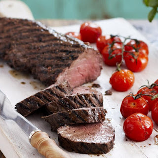 Grilled Beef Tenderloin with Tomatoes