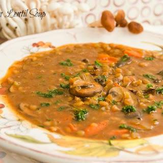 Mushroom Lentil Soup.