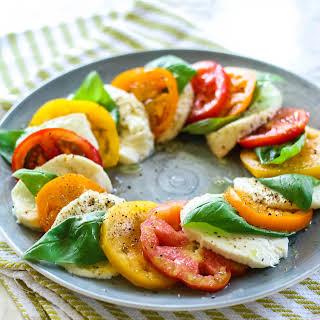 Heirloom Tomato Caprese Salad.