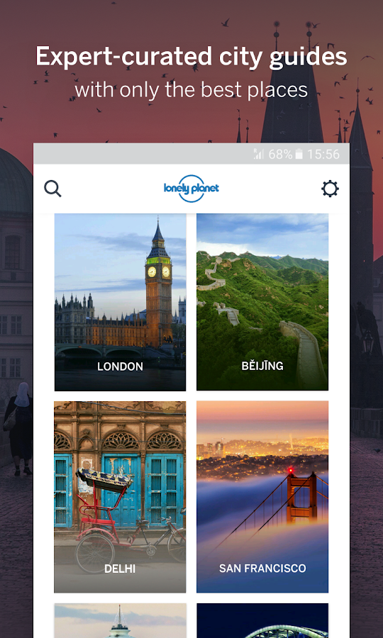 Guides by Lonely Planet: captura de pantalla