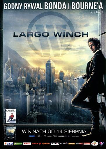 Przód ulotki filmu 'Largo Winch'