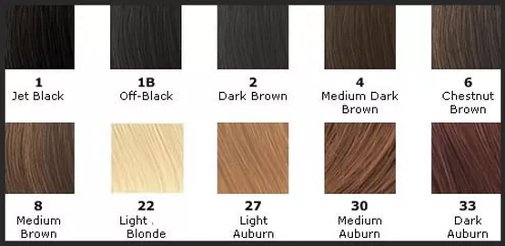 Wig Color Guide