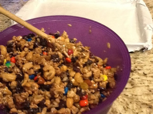 Dump all the ingredients in a big bowl and mix until everything is coated...