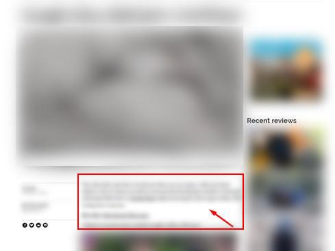пример страницы с агрессивной рекламой, рекламы больше чем основного контента