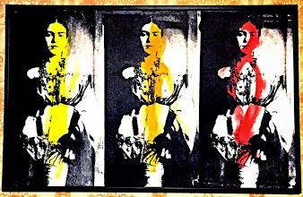 Foto: Frida Triptych  50x80cm  Serigrafia seriale su tela e tempera  DISPONIBILE  Per informazioni e prezzi: manualedelrisveglio@gmail.com