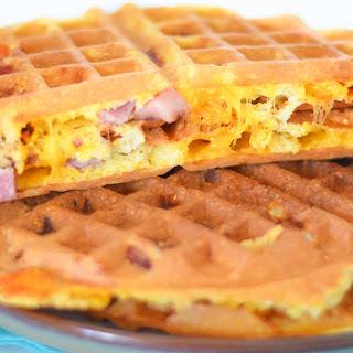 Ham + Cheese Waffles.