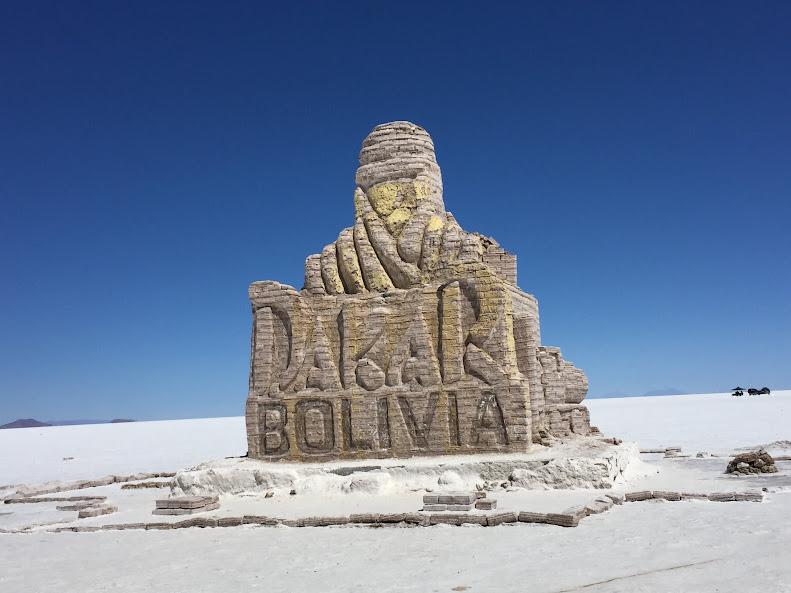 ウユニで日本人に有名な穂高ツアーでウユニ塩湖ツアー 塩湖エリア