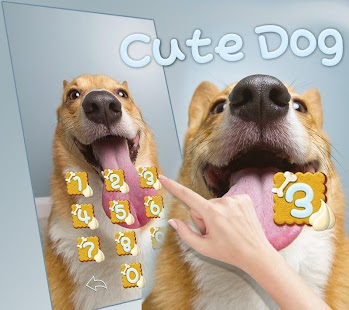 Cute Dog Lick Theme Wallpaper - náhled
