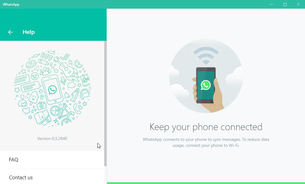 thumbapps.org WhatsApp portable, Settings > Help