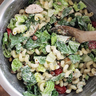 Greek Yogurt Dill Caesar Pasta Salad
