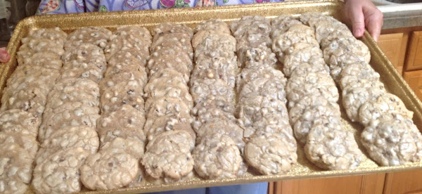 Party Size Three Chip Chocolate Pecan Cookies Recipe