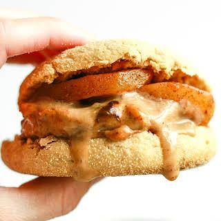 Chicken Sausage Gravy Breakfast Burgers.