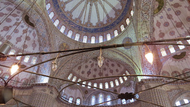 Photo: The inside if the Blue Mosque is awe inspiring.