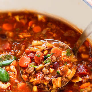 Spicy Vegetable Soup With Spaghetti Sauce Recipes.