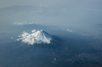 Photo: Fuji From The Air  Seeing Fuji from the ground is spectacular enough, but a view from the air is something extra special! During my family's flight down to Okayama Prefecture, we were lucky enough to catch a great view of Japan's famous mountain as we flew by. Also, in today's post I talk about some tips for shooting from an airplane, which I hope will benefit you if you're ever trying to capture a scene from your seat.  Blog post: http://lestaylorphoto.com/fuji-from-the-air/  #japan #travel