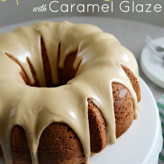 Lemon Bundt Cake with Caramel Glaze.