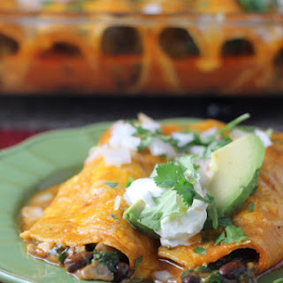 Spinach Black Bean Enchiladas